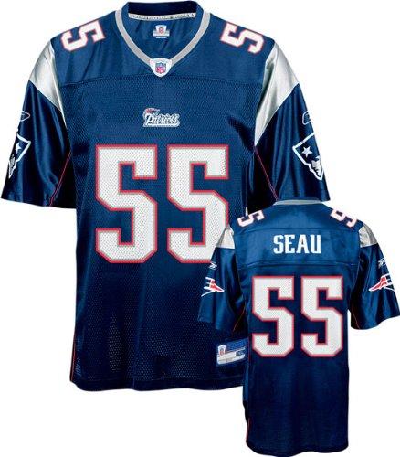 quality design d9dbd 034ef Amazon.com: Junior Seau Reebok NFL Navy Replica New England ...