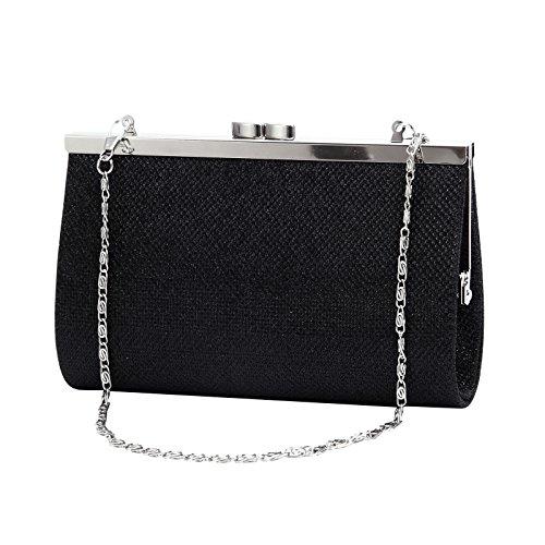 Noir pr Main Style Fille a Femme Porte monnaie Sequin Anladia Sac Pochette qwf8xnfPZ