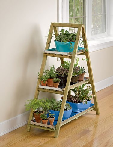 A-Frame Plant Stand & Tray Set by Gardener's Supply Company