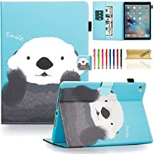 iPad Air 2 Case, iPad 6 Case, Dteck(TM) Pretty Cute Cartoon Flip Smart Stand Case with [Auto Sleep Wake] Premium Synthetic Leather Magnetic Wallet Cover for Apple iPad Air 2-Pretty Panda