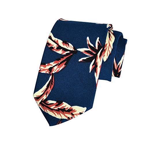 EasyJoy Skinny Ties Men's Cotton Printed Floral Necktie (color 23)