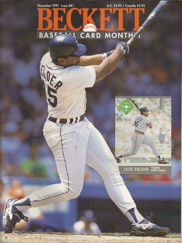 Beckett Baseball Card Monthly Dec 1991 (Front cover featuring Cecil Fielder, Vol. 8, No. 12 Issue #81)