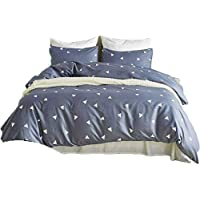 YOUMIMAX Triangle Geometry Bedding Set for Boys and Girls Kids Duvet Cover Set