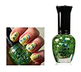 1-Bottles Exceptional Popular Hot Nails Polish Lacquers Peel Primer Bright Glitters UV LED Gel Color Type Peaceful Heart
