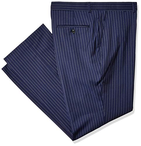 Tommy Hilfiger Men's Modern Fit Suit Separates with Stretch-Custom Jacket & Pant Size Selection, Navy Stripe, 34W x 30L
