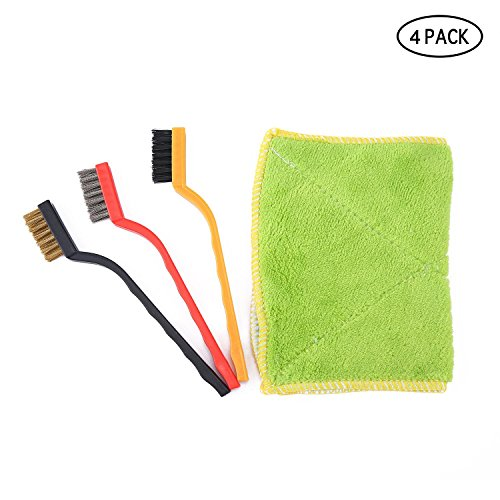 Umiwe kitchen Cleaning Brush Kit,Gas Burner Brush Kit With Fiber Cloth - Steel Wire,Copper Wire,Nylon Brush For Cleaning All Occasions