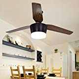 YanCui@ Modern Living room/bedroom/kitchen/restaurant Indoor Wood ceiling fan light , diameter 140cm [white]