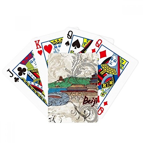 Tian An Men Bird Nest Beijing China Poker Playing Cards Tabletop Game Gift (Bird Nest Beijing)