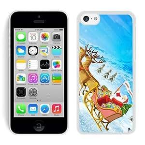 Personalized Design Iphone 5C TPU Case Santa Claus White iPhone 5C Case 28