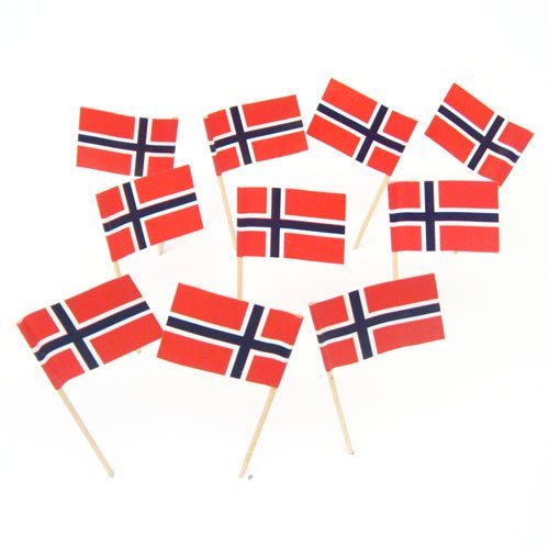 Norway Norweigian Flag Toothpicks 100 product image