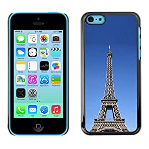 Soft Silicone Rubber Case Hard Cover Protective Accessory Compatible with Apple iPhone 5C - Architecture The Eiffel Tower Tour