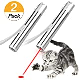 Tacobear 2PCS Laser Pointer Cat Toys 3 in 1 USB Charging Interactive Catch The LED Light Exercise Cat Training Tool