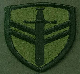 US Army 2nd Support Command SSI subdued patch at Amazon's