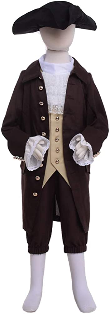 Colonial Costume Boys 18th Century Colonial America Costume Boys Colonial Costumes Size 7 8 10 12 14 16