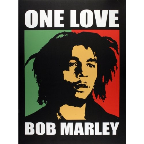 Bob Marley - One Love Large Canvas Print