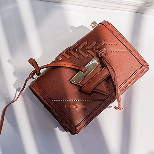 Brown Color Chain Small Light Women's Knit ZCM Bag Block Square Shoulder qAWZxpvp6g