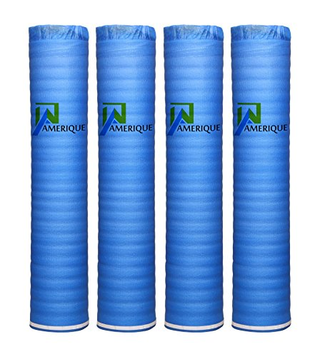 (4 Rolls Of 800SQFT AMERIQUE Wood, Bamboo & Laminate Flooring Underlayment Padding with Vapor Barrier 3-in-1, 2MM Thick, (800SF total, Pack Of 4 Rolls, 200SF/Roll))