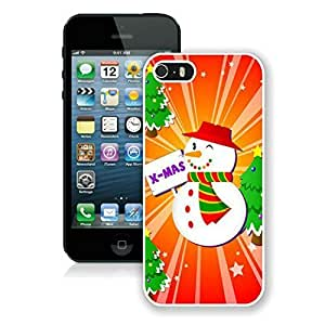 Iphone 5s case,iphone 5 case,Christmas snowman Iphone 5/5s Case White Cover
