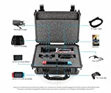 Deluxe Hard Carrying Case for Professional Gamers. Stores Nintendo Switch, Switch Controller, Pro Controller, Joy-Con, Docking Station, Multiple Games And Accessories.