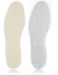 Skyfoot's Wool Insole, 3 Layers Winter Heated Insole Cold Weather Warm Inserts for Men and Women (White)