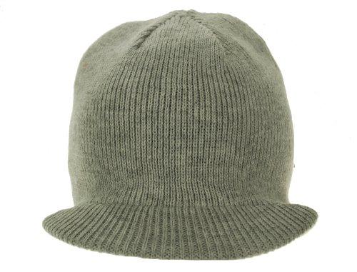 Mens Reversible Visor Beanie - American Rag Reversible Visor Beanie Hat-One Size-Grey