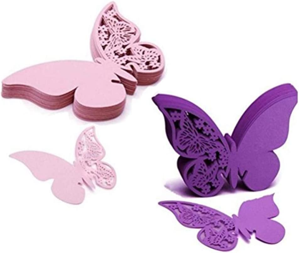 Amazon.com: Eshylala 100 Pcs Butterfly Wine Glass Cards Laser Cut Name  Place Cards Wine Cup Decoration Postcards Wedding Centerpieces Table  Decoration (Pink&Purple): Home & Kitchen