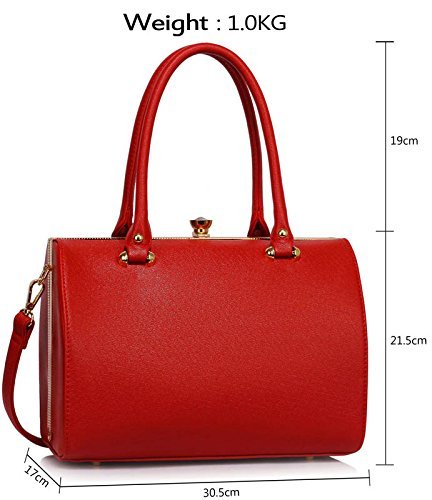 bags New Size Shoulder Ladies Briefcase With Strap Womens Medium Designer Handbags Red 2 Tote Style Luxury Design 7RWq5wBx5v