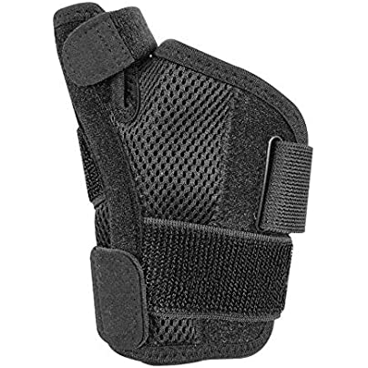 Doolland Steel Wrap Wrist Support Brace Tendon Wristband Sheath Thumb Fracture Protector Finger Sprain Fixed Arthritis Band Estimated Price £7.34 -