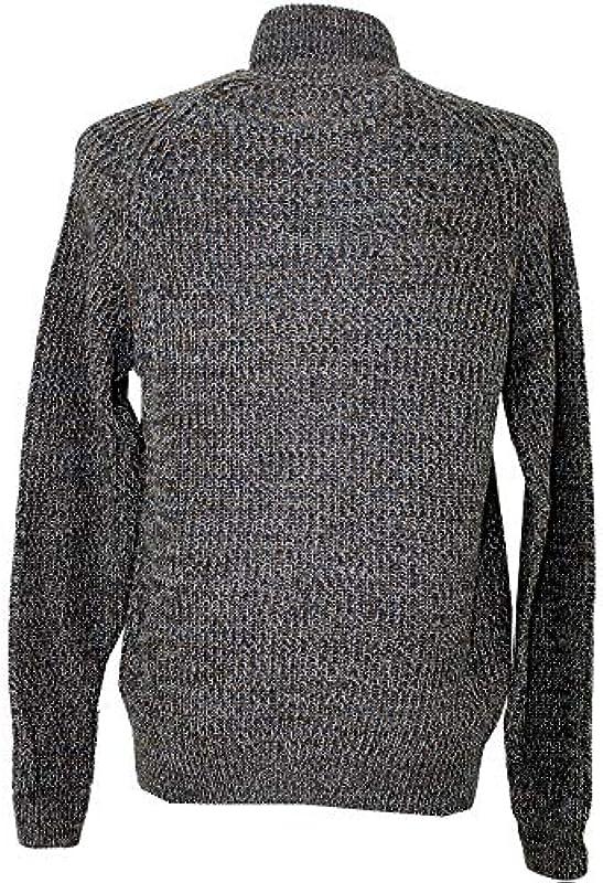 LERROS, męska kurtka z dzianiny, gruby prążkowany, szarobrązowy melanż [21422]: Odzież