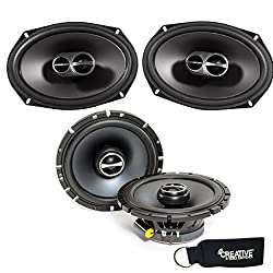 "Alpine Sps-610 6-12"" Coaxial 2-way Speakers & Sps-619 6x9"" Coaxial 2 Way Speakers Bundle"