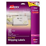 Shipping Label Printer - Avery Clear Easy Peel Shipping Labels for Laser Printers 3-1/3