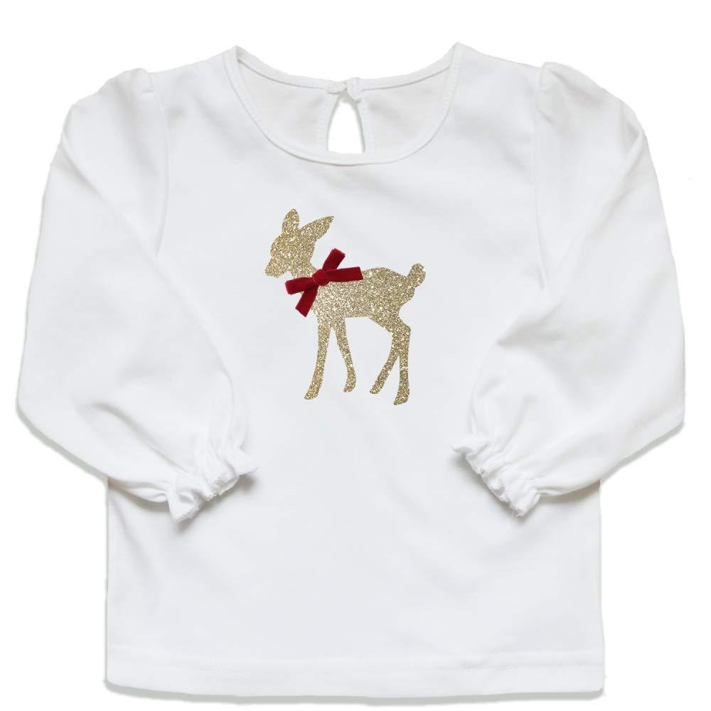 Baby Mädchen Bambi Kleid Neugeborene Schöne Weiche Baumwolle Jersey