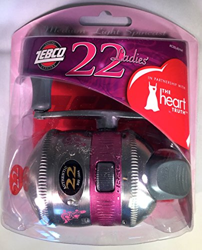 Zebco 22 Lady Spincast Reel Convertible - Pink - Perfect Mother's Day Gift!