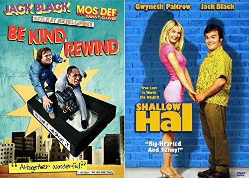 (Jack Black Doing Jack Black Stuff 2 Feature Film DVD Bundle- Shallow Hal+ Be Kind Rewind)
