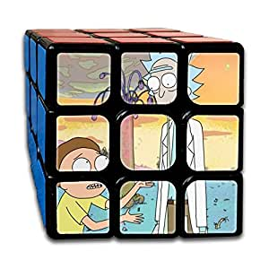 Smooth Sequential Puzzle Toy Rick Morty Speed Cube Standard 3x3 Speed Cube Stickerless Magic Cube Puzzles Toys, IQ Games Puzzles
