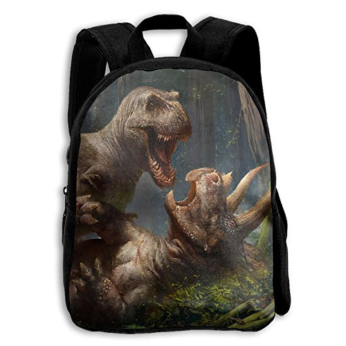 Limin Dinosaur Wrestling Print A Durable Kid's Mini Backpack by Limin