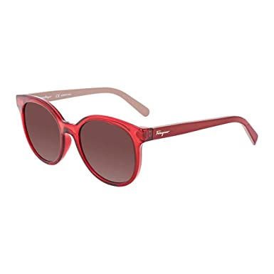 Amazon.com: Ferragamo anteojos de sol sf833s 613, color rojo ...