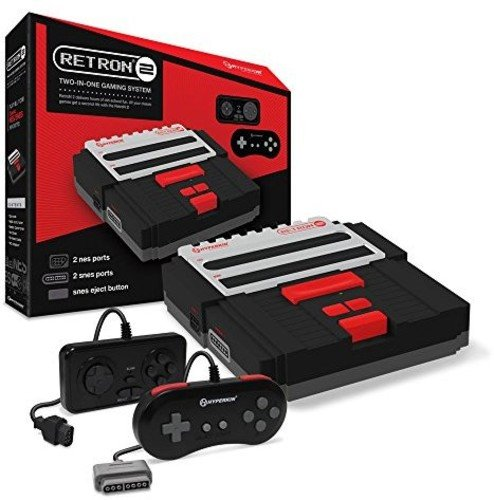 Hyperkin RetroN 2 Gaming Console for SNES/ NES (Black)