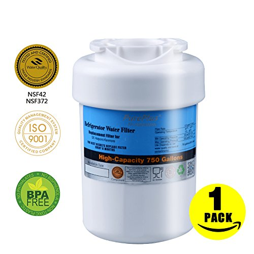 Pureplus Refrigerator Water Filter Compatible With Ge Mwf Mwfa Kenmore 46 9991  46 9996 Remove Heavy Metals