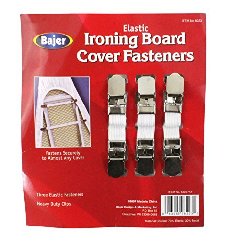 Heavy Duty Ironing Board Cover Fasteners Clips 3 Count Bajer 8223
