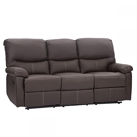 3 Set Sofa Loveseat Chaise Couch Recliner 3 Leather Living Room Furniture PR