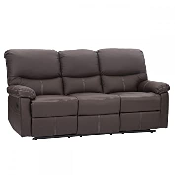 Recliner Sectional Sofa Set, Leather Loveseat Chaise Couch Reclining Sofa  Chair Living Room Furniture
