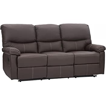 Bon Recliner Sectional Sofa Set, Leather Loveseat Chaise Couch Reclining Sofa  Chair Living Room Furniture