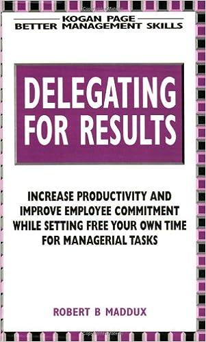Book Delegating for Results (Better Management Skills)