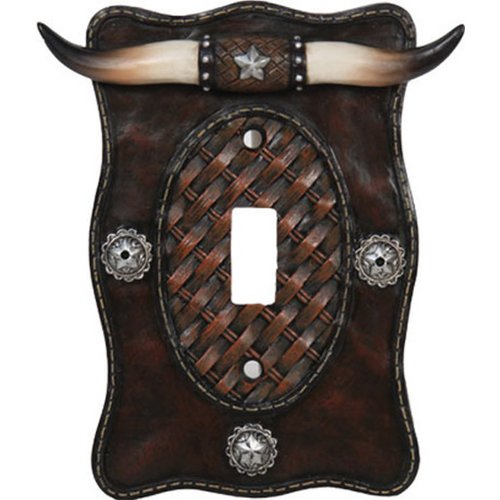 River's Edge Products Longhorn Single Switch Electrical Cover - Switchplate Electric