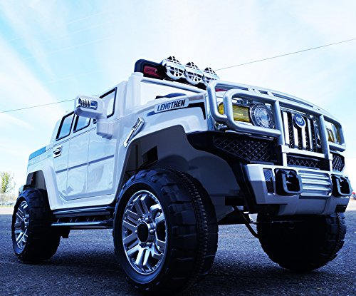 rideONEcar-HUMMER-STYLE-JJ-255-B-RIDE-ON-TOY-CAR-BATTERY-OPERATED-REMOTE-CONTROL-WHITE