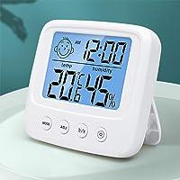 Termómetro Higrómetro Digital, Medidor de Temperatura para Medición de Temperatura y Humedad del Casa Ambiente con luz…