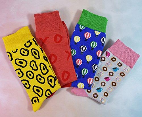 Drôles Chaussettes-weilai Motif Nouveauté Coloré Femmes Chaussettes Équipage Robe Casual Coton Couleur 5
