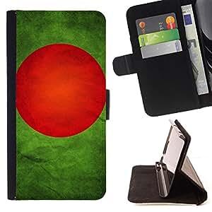KingStore / Leather Etui en cuir / Apple Iphone 5C / Nacional bandera de la nación País Bangladesh