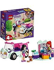 LEGO 41439 Friends Verzorgingsauto Set met Kittens, Emma en Mia Mini Poppetjes, Speelgoed Auto voor Meisjes en Jongens vanaf 4 Jaar